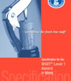 WSET level 1 Wine Specification