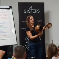 Four Sisters Gin Manchester. Demonstrating the Still