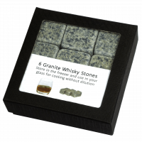 5801 Whisky stones, granite, box of 6 (in box)